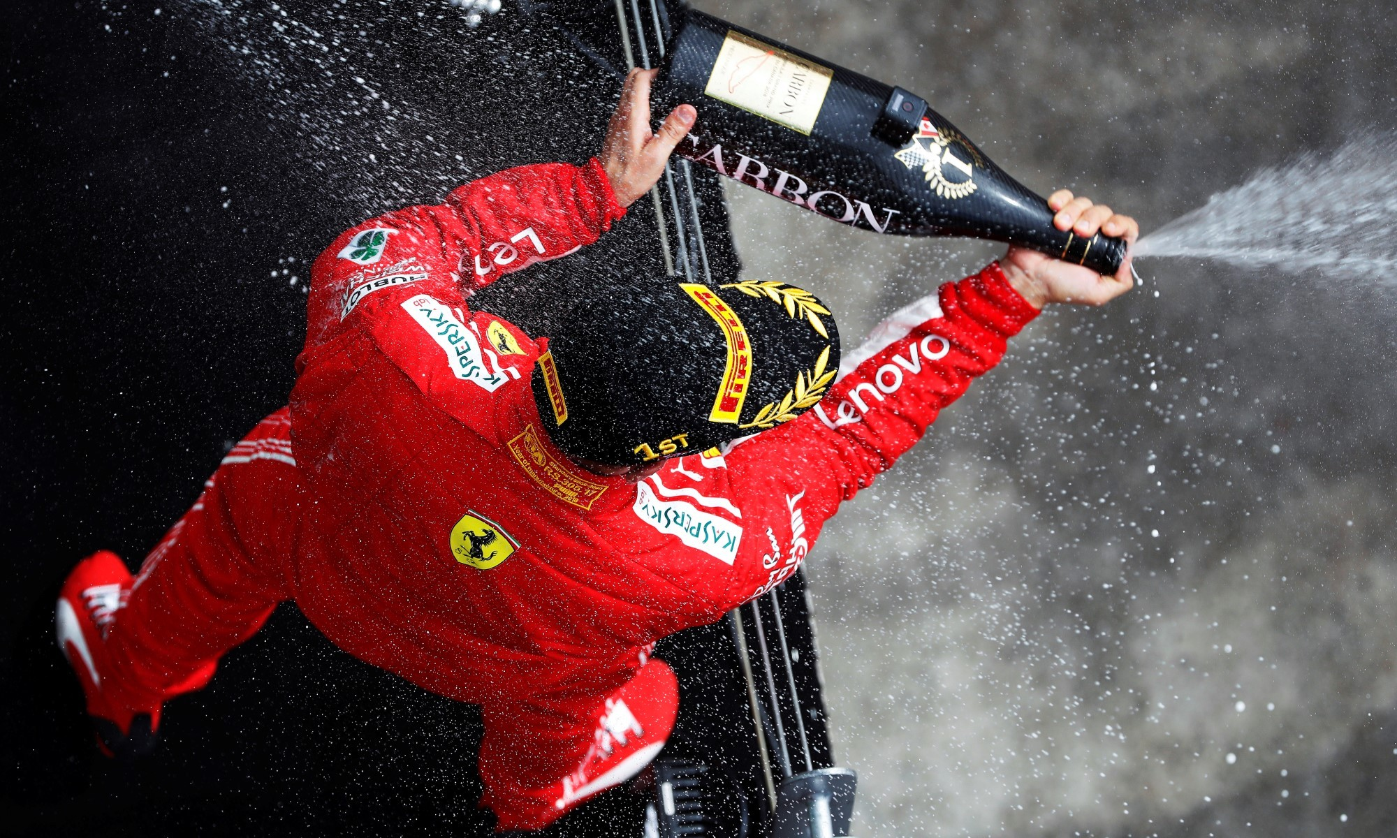 Vettel got to enjoy the spoils in Canadia