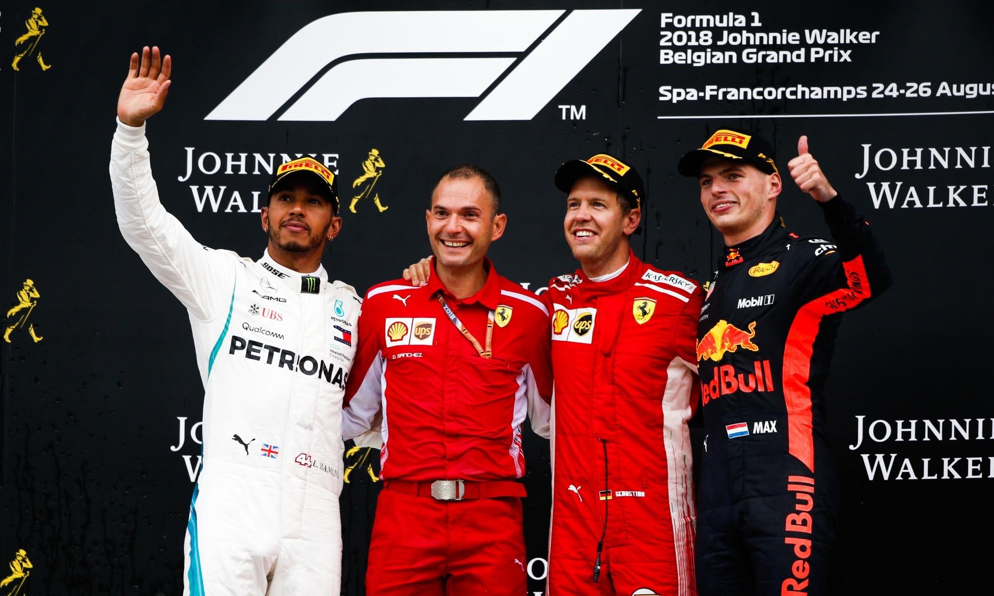 Sebastian Vettel won the Belgian Grand Prix