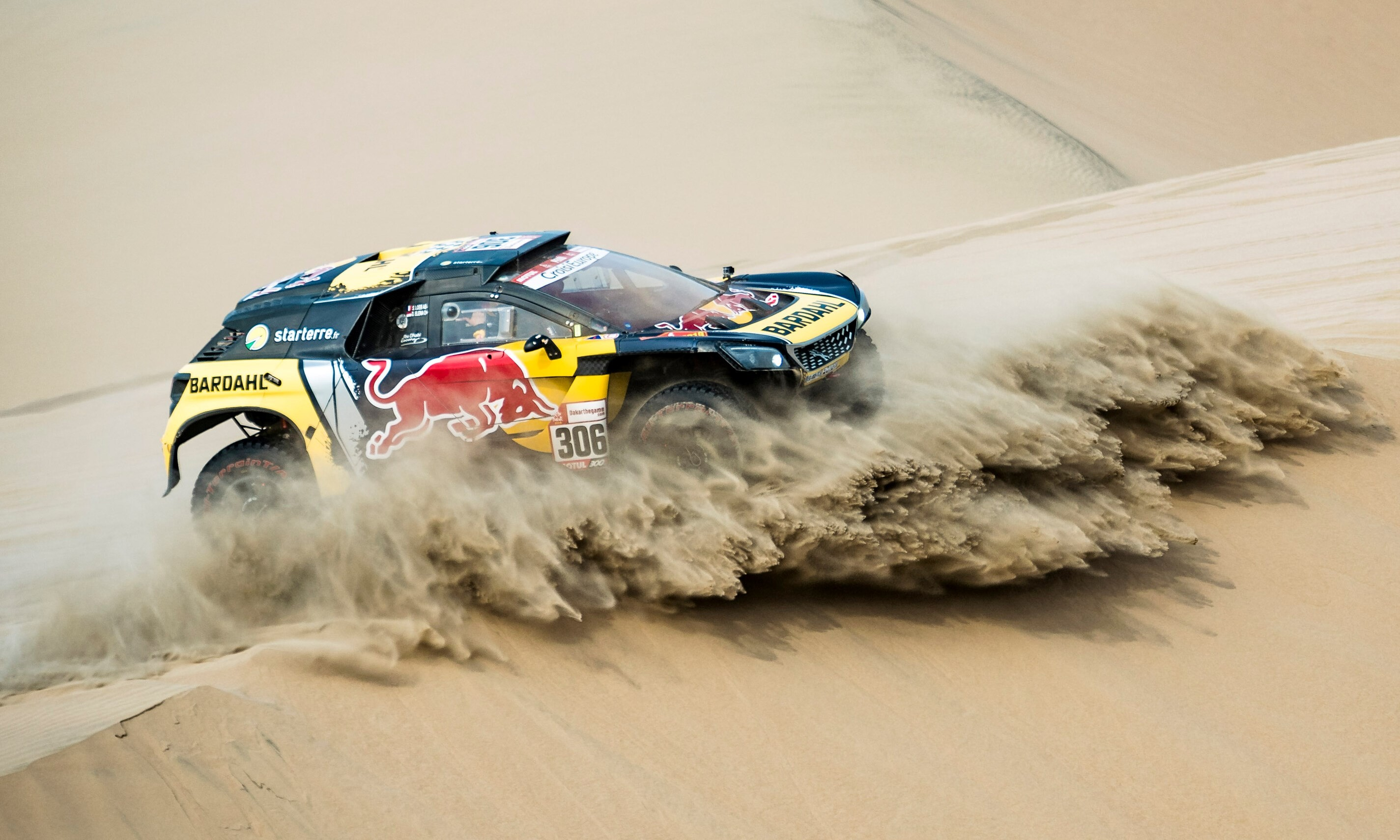 Sebastien Loeb was on a real charge on Dakar Rally stage 10