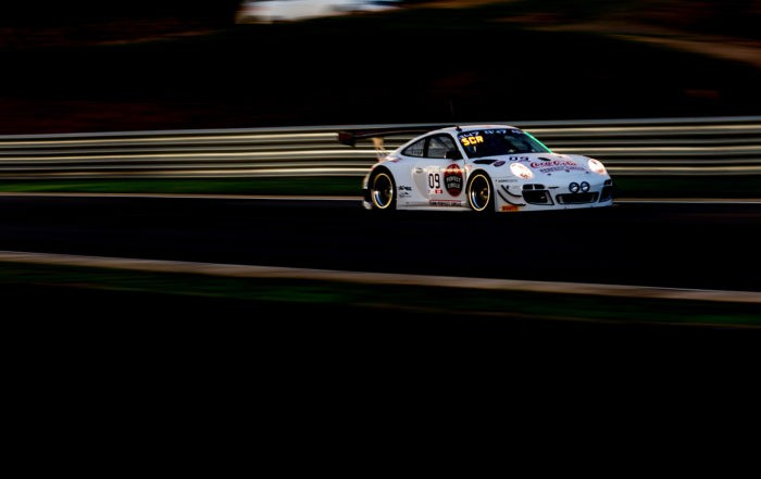 Team Perfect Circle Porsche during night practice (Image David Marchio)