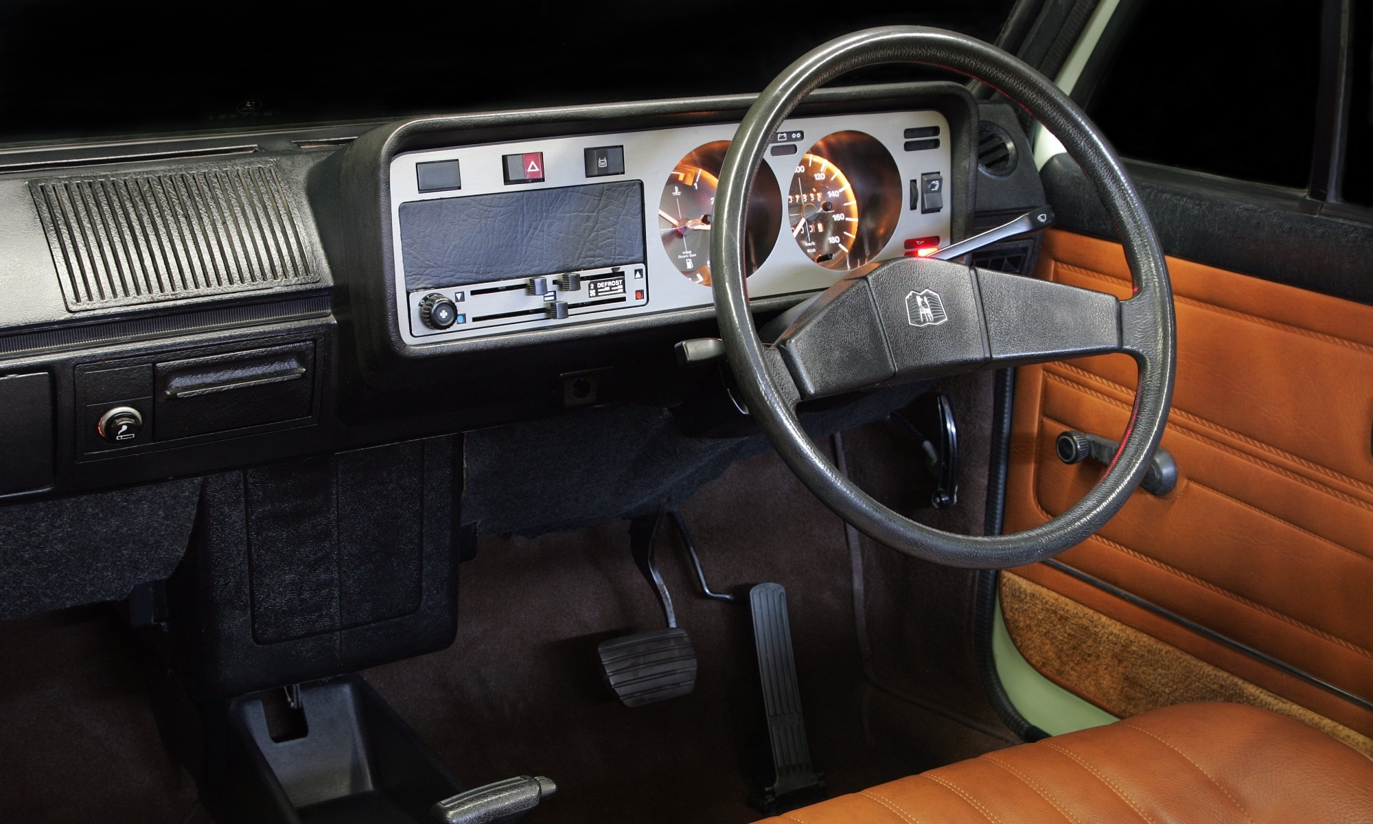 That interior is a far cry from what is on offer today