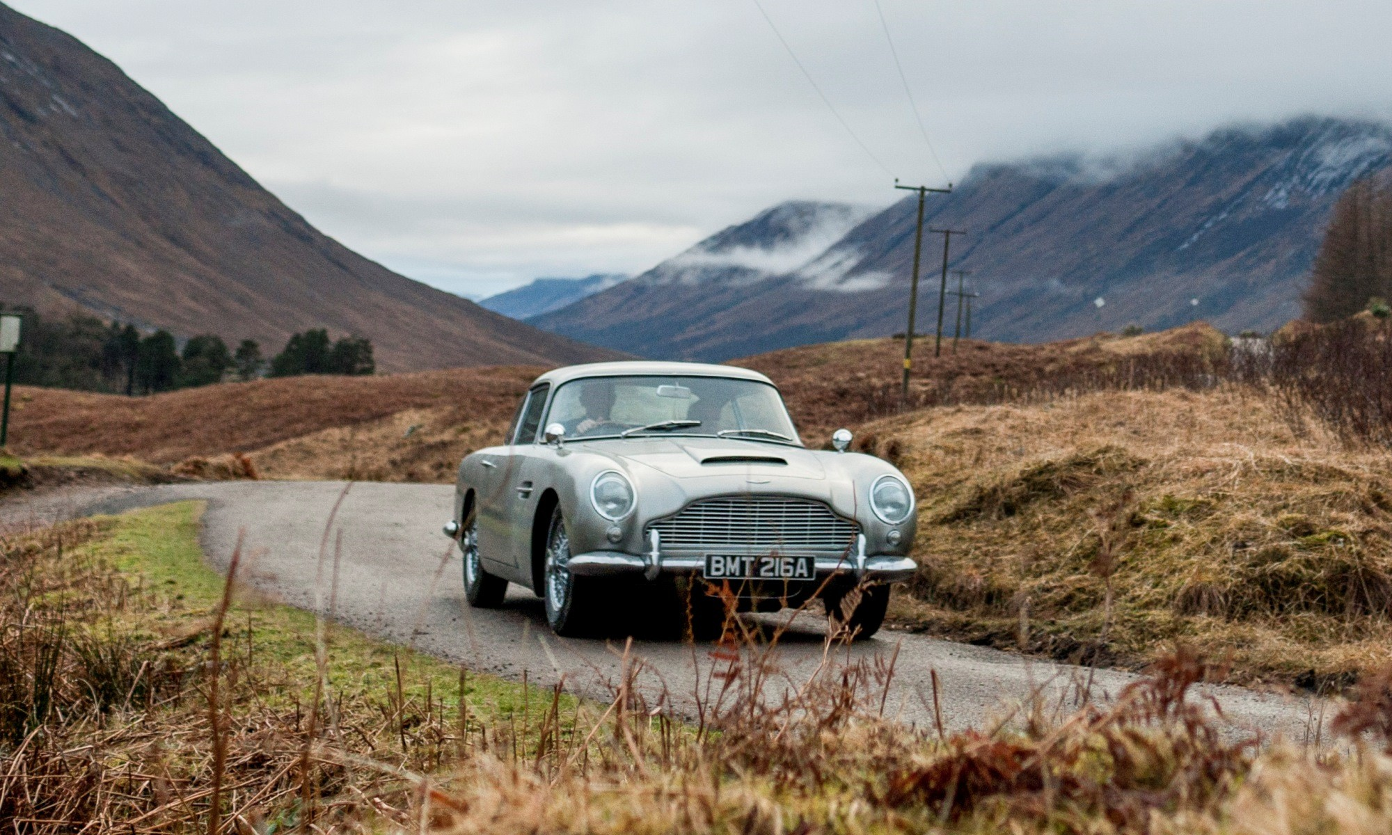 The Aston Martin DB5 as seen in Skyfall