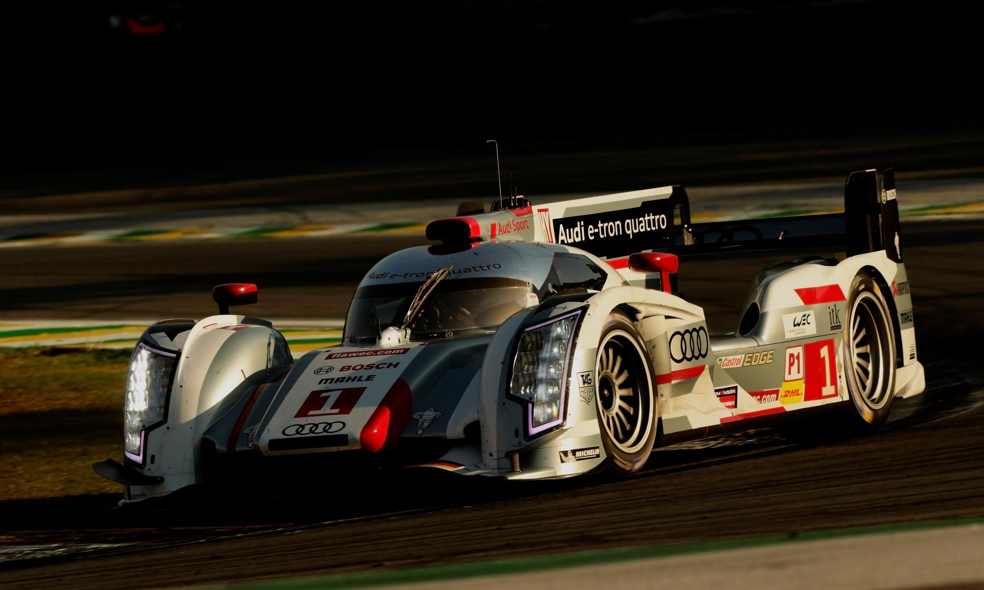Audi R18 at sunrise
