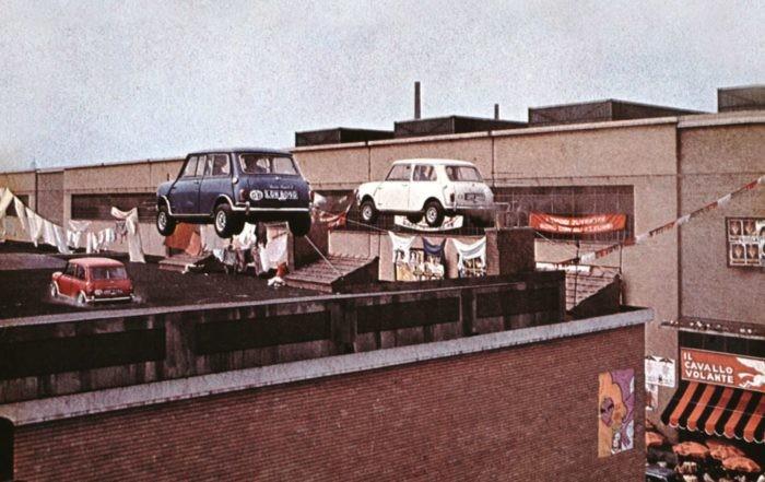 Flying Minis from the original The Italian Job