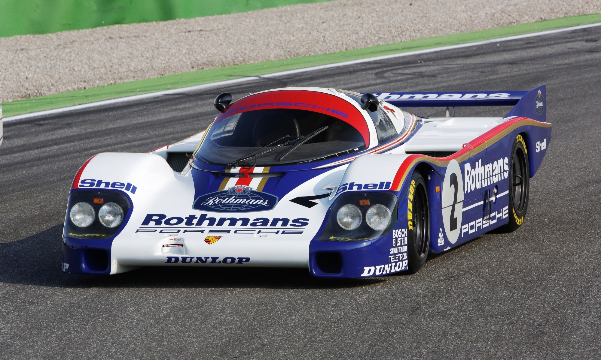 The Porsche 956 in iconic Rothmans livery