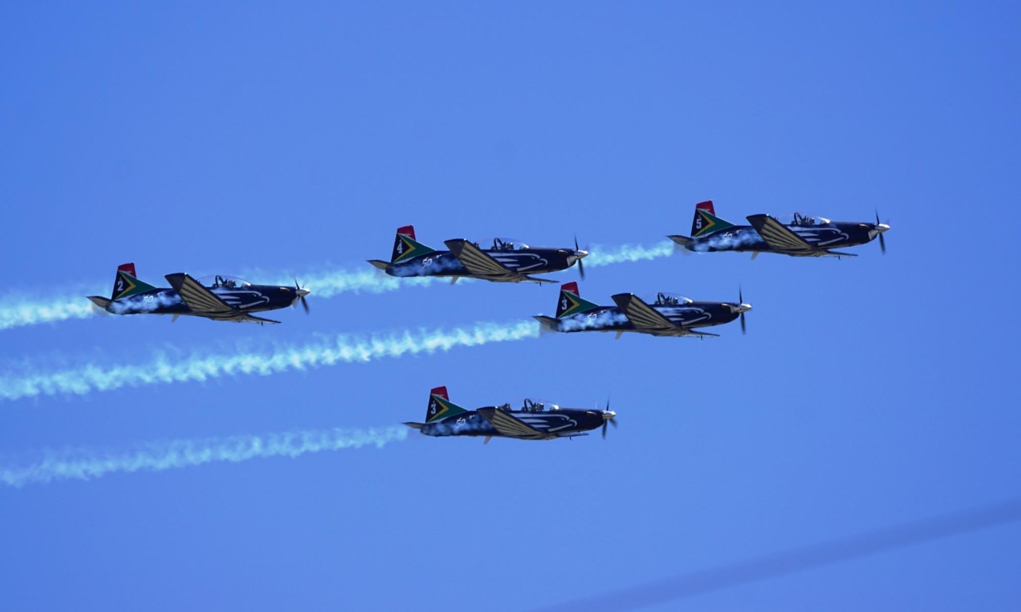 The Silver Falcons provided a spectacle between the on-track action.