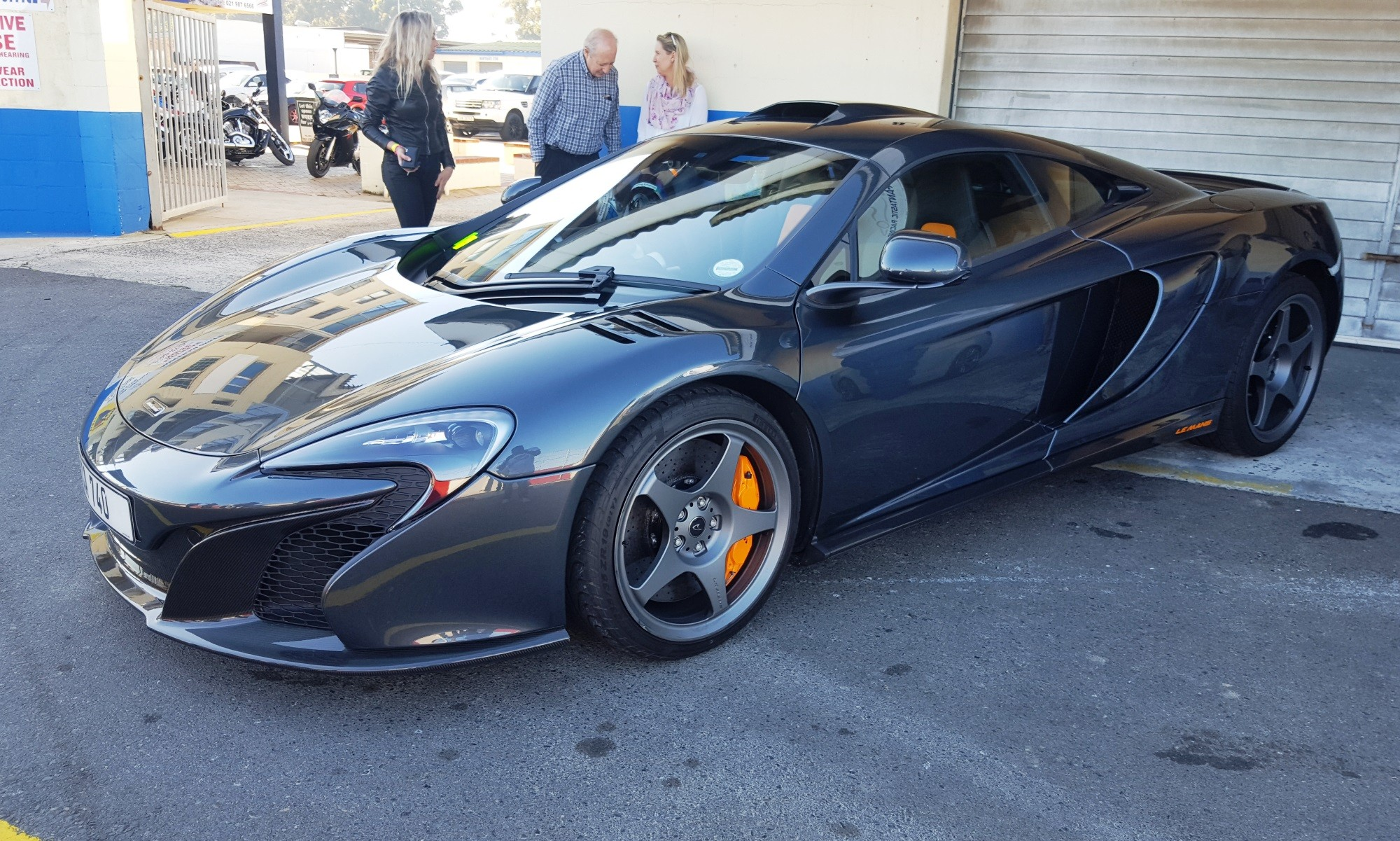 The driver of this limited-edition McLaren was not shy.