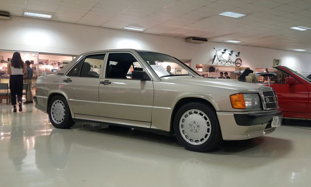 The famous 190E 2,3 16 a car that laid the foundation for Mercedes' success in the DTM.