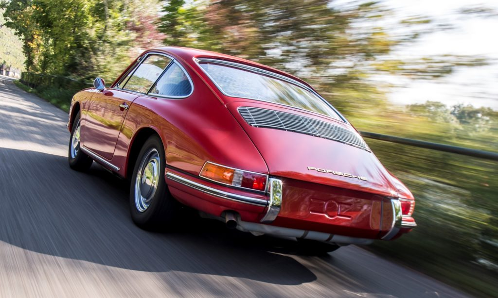 The iconic sloping roofline of the first 911