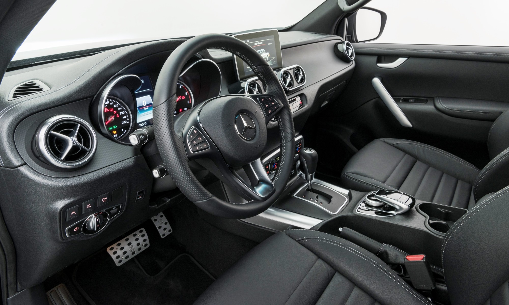 The interior receives just a few Brabus touches
