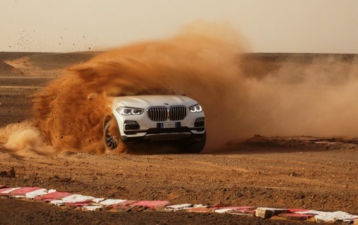 The new BMW X5 getting dirty at Monza in the Sahara