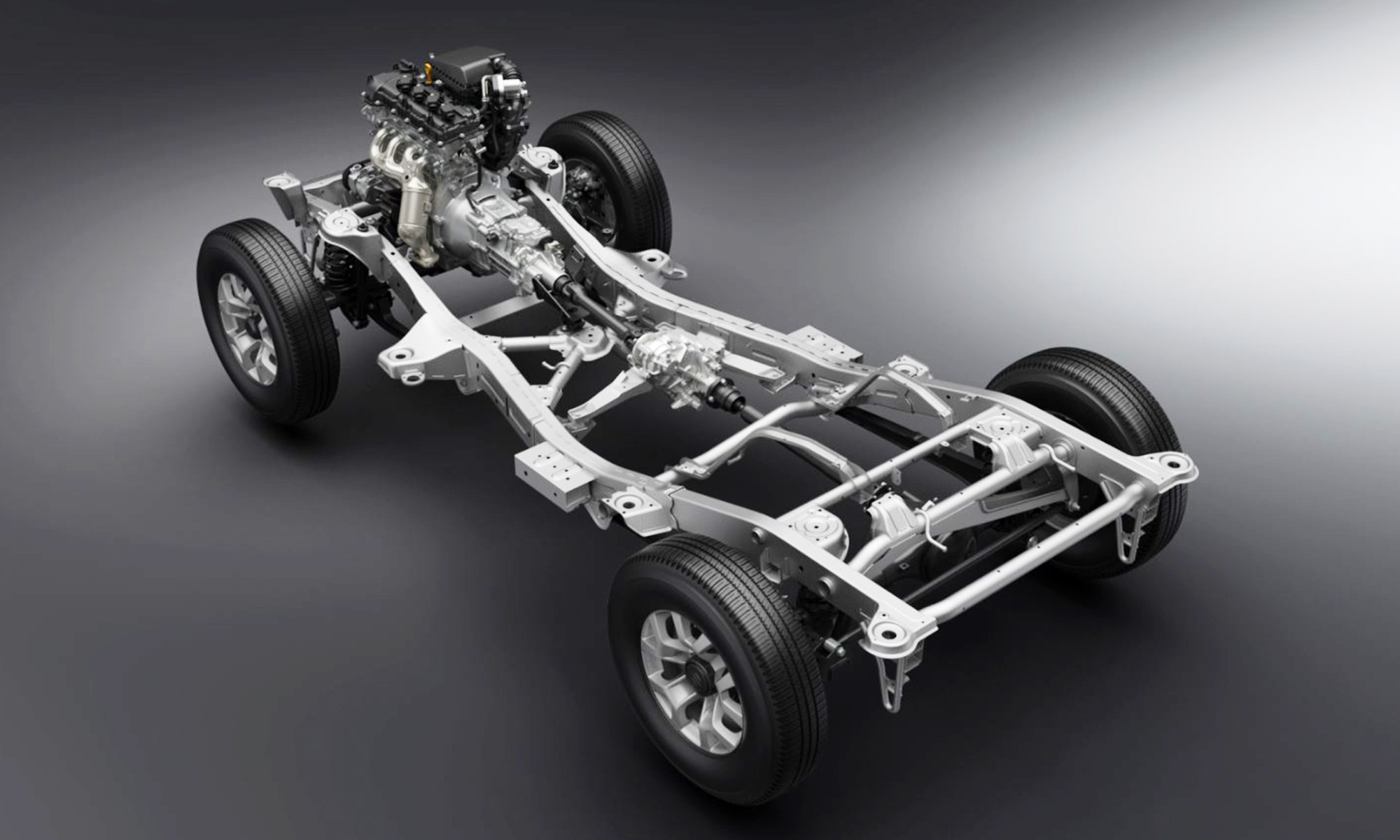 The new Jimny retains its ladder frame base