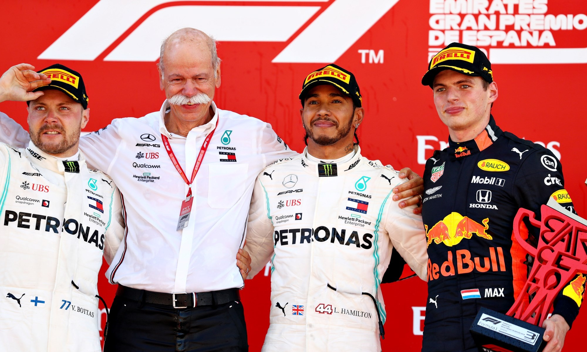 The podium places with the head of Mercedes-Benz