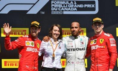 The podium positions