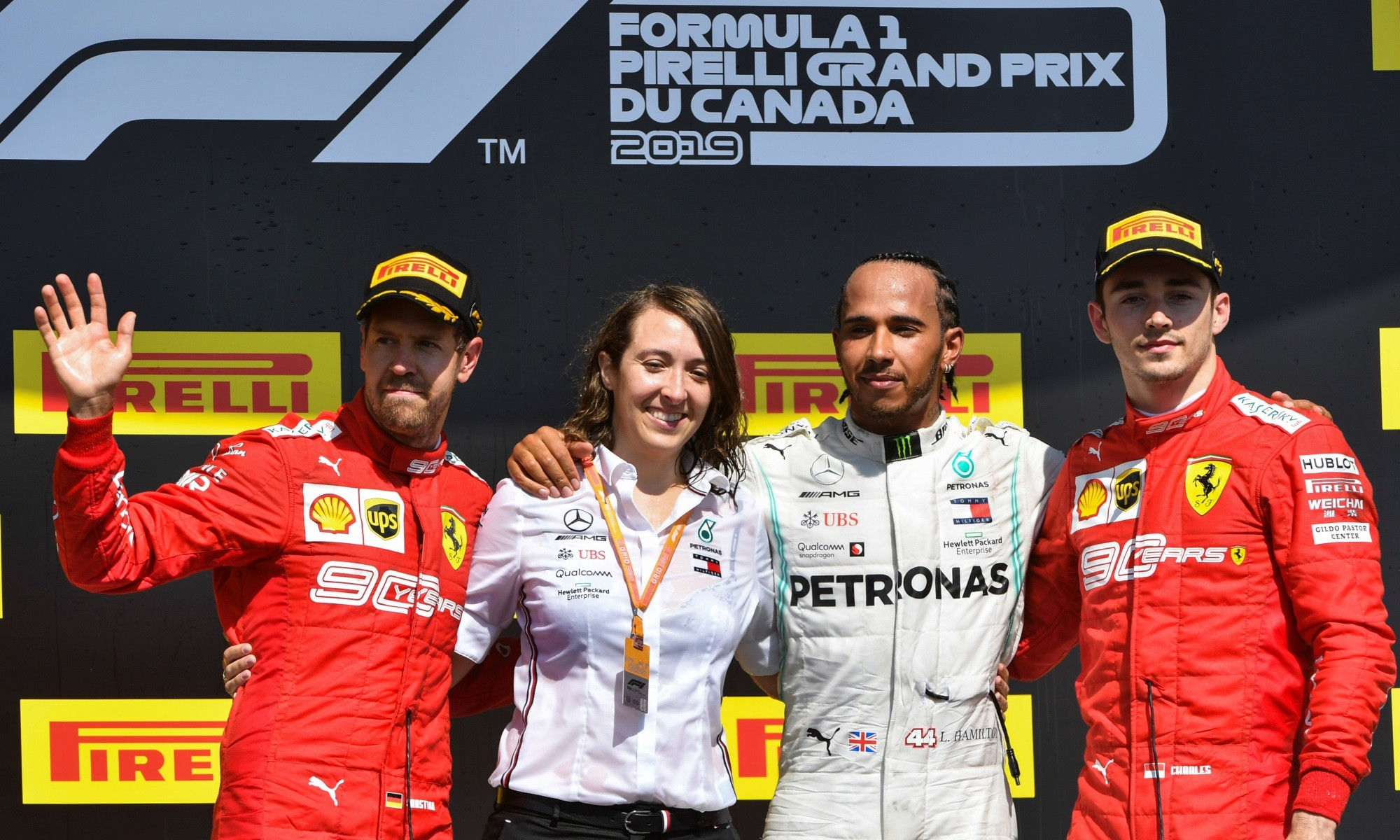 The podium positions
