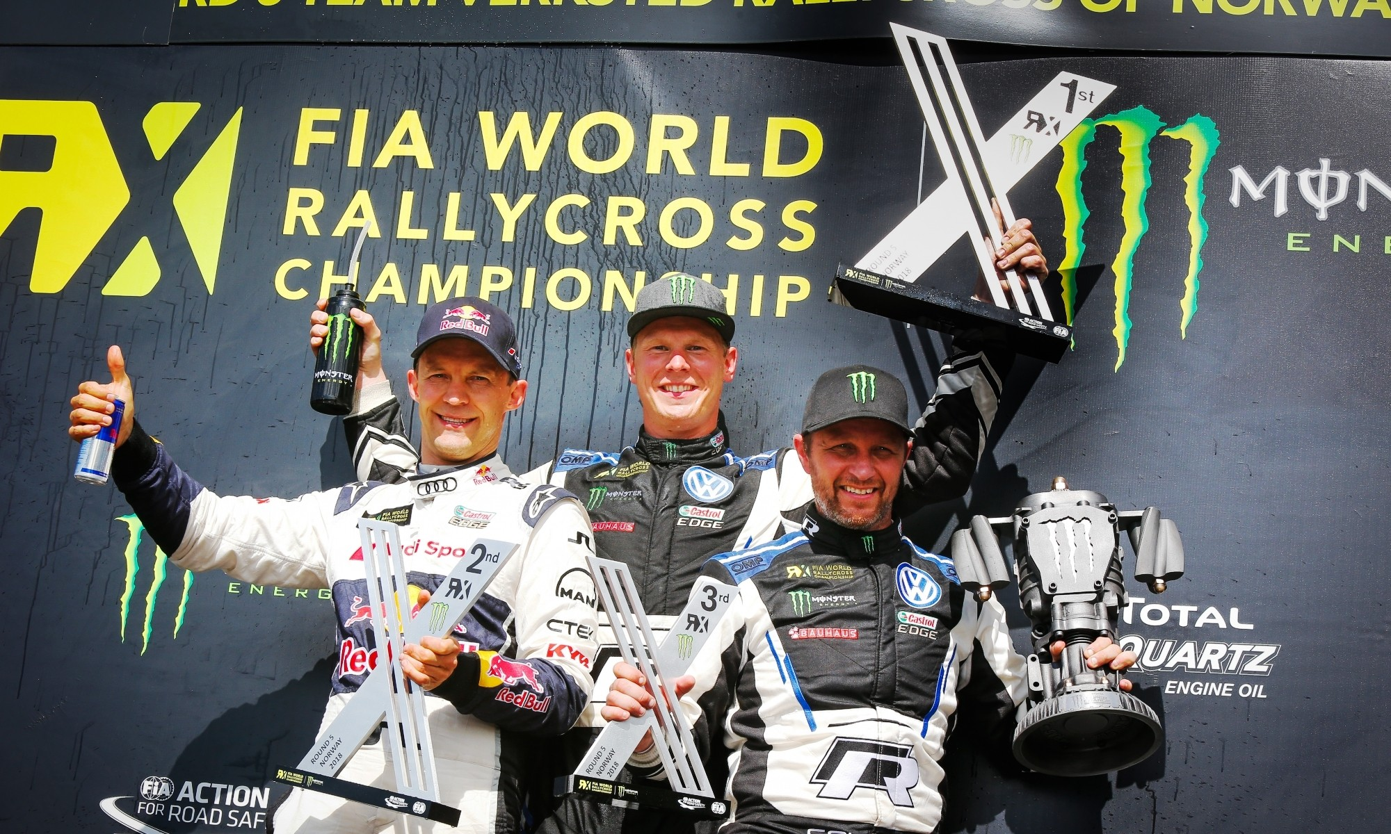 The FIA World Rallycross podium