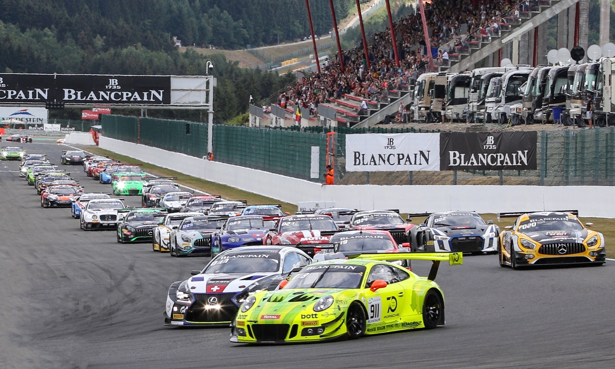 The start grid of the 24 Hours of Spa