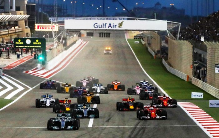 The start of the 2018 race at Bahrain