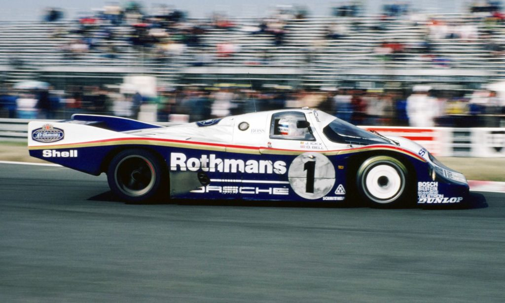 The unmistakable Porsche 956 in Rothmans colours