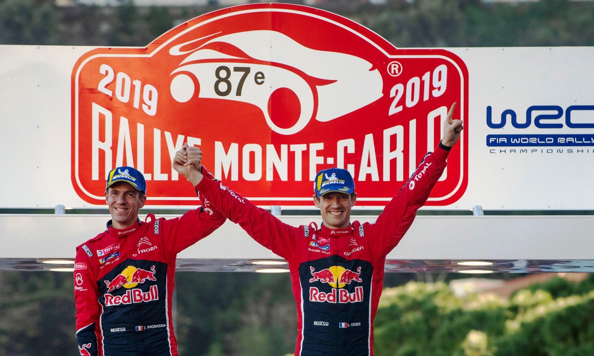 The winners Sebastien Ogier and Julien Ingrassia
