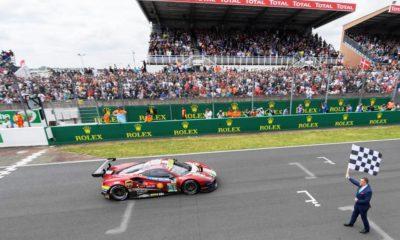 The winning GTE Pro Ferrari 488 GTB Evo