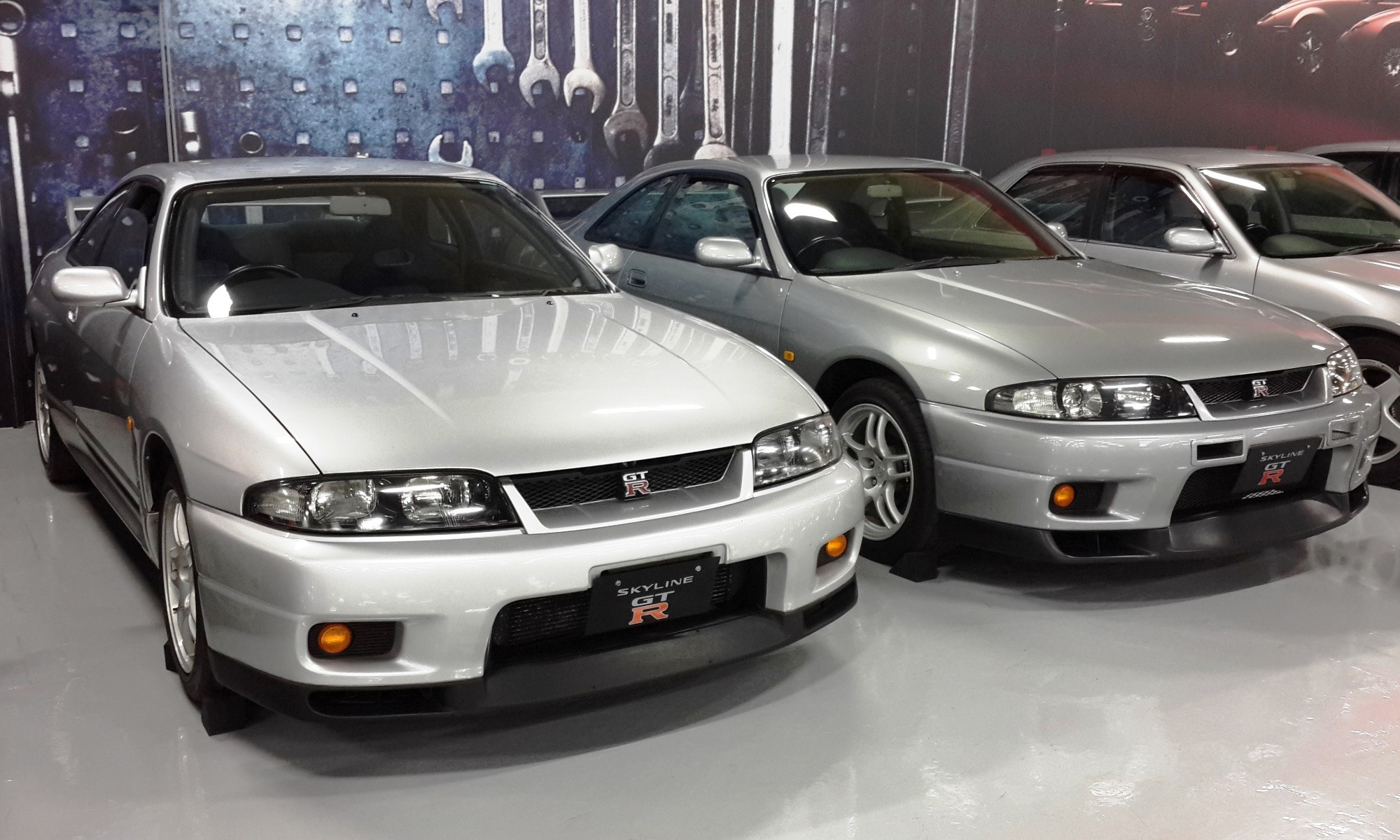 There is a GTR from each generation in the collection