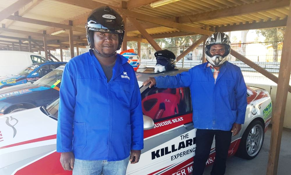These two workers experienced the track at speed for the very first time after years of work Killarney