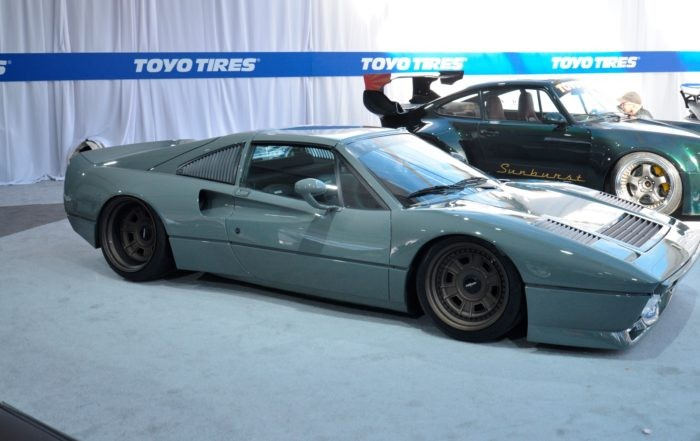 This resto-modded Ferrari was a real hit