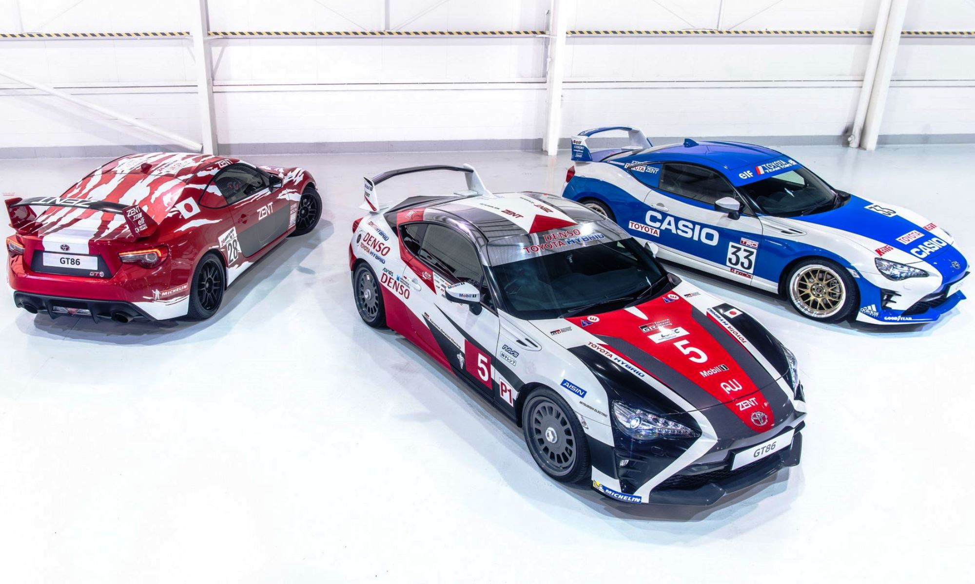 Toyota 86s in Le Mans Livery 2