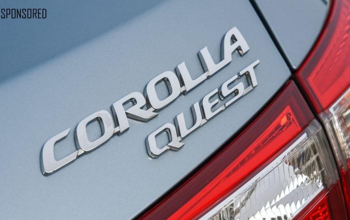 Toyota Corolla Quest badge sponsored