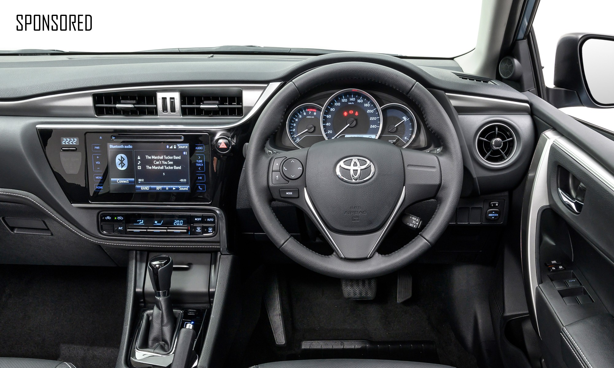 Toyota Corolla Quest interior sponsored
