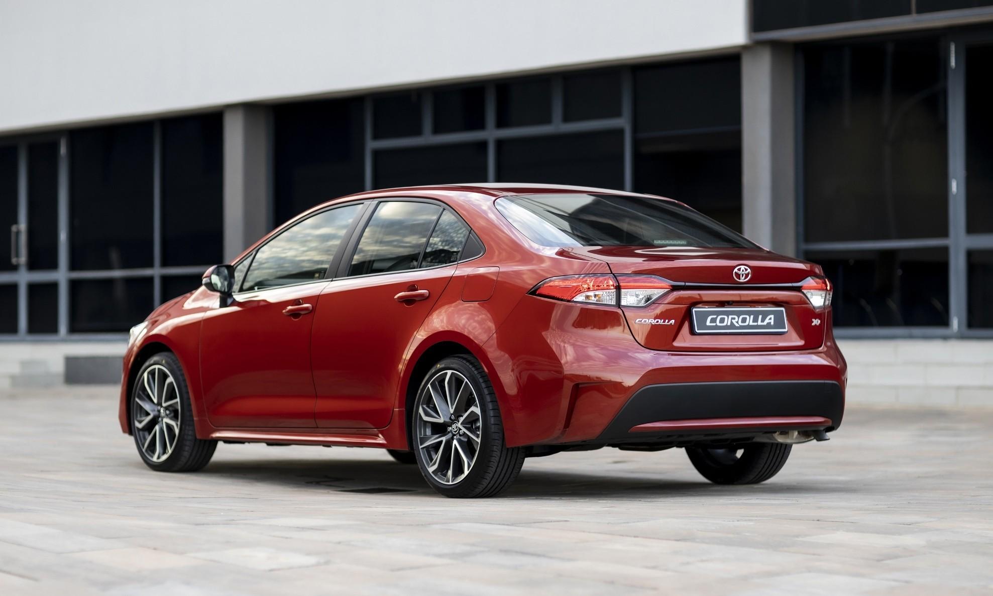 New Toyota Corolla driven
