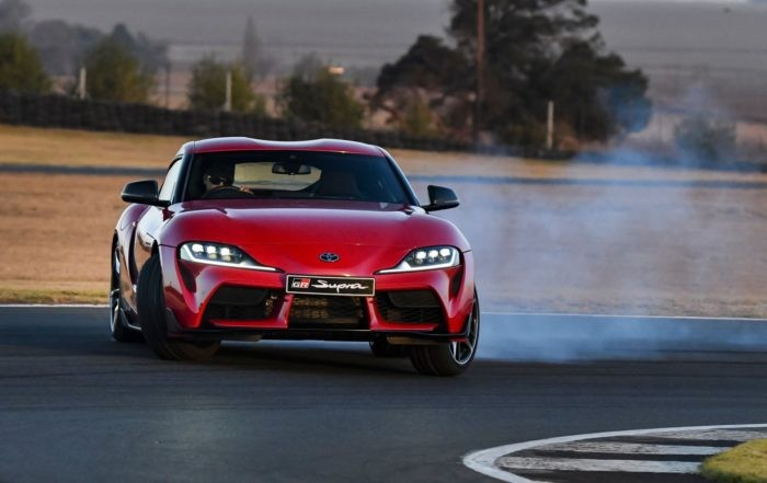 Toyota GR Supra driven sideways