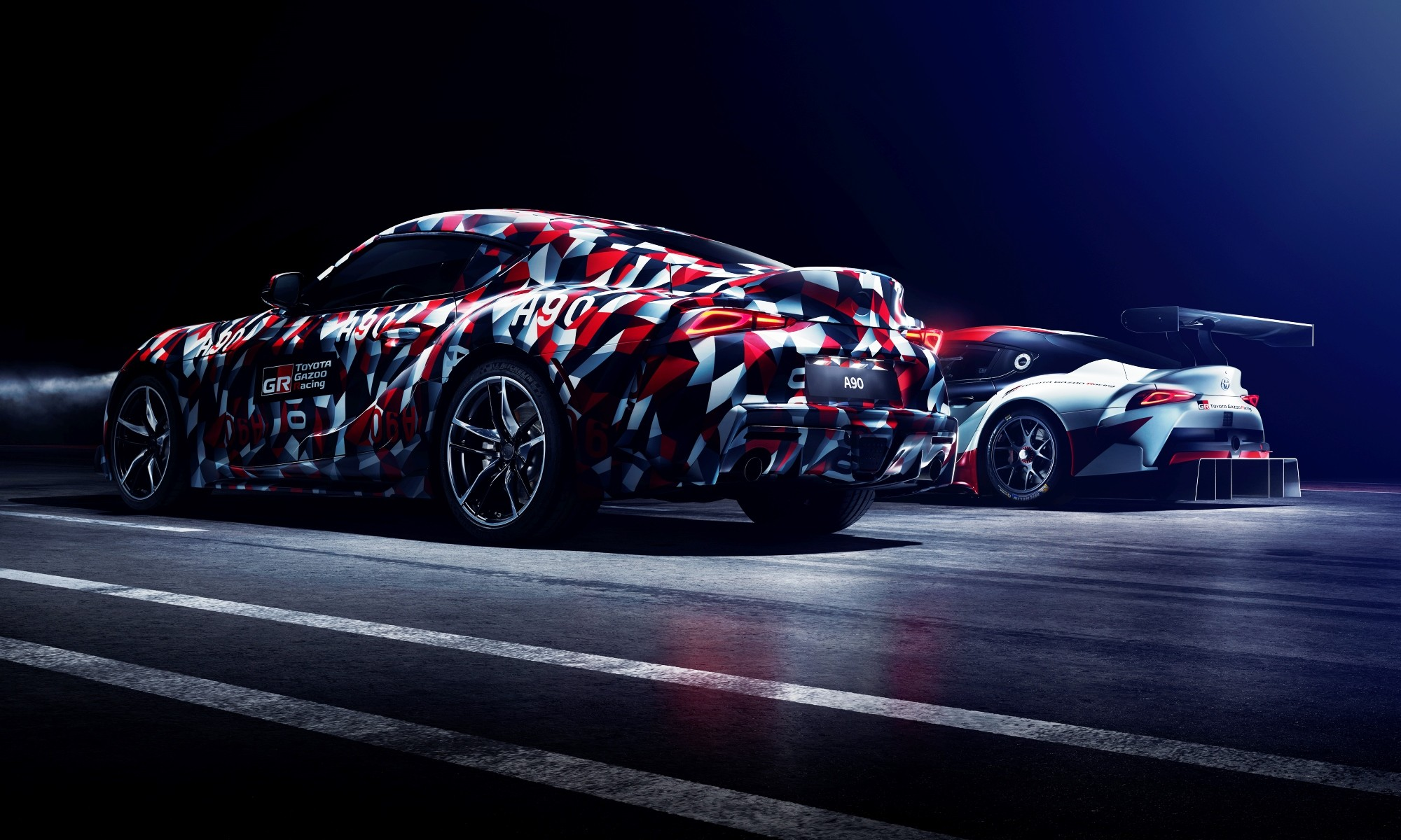 Toyota Supra alongside the Gazoo Racing Concept car