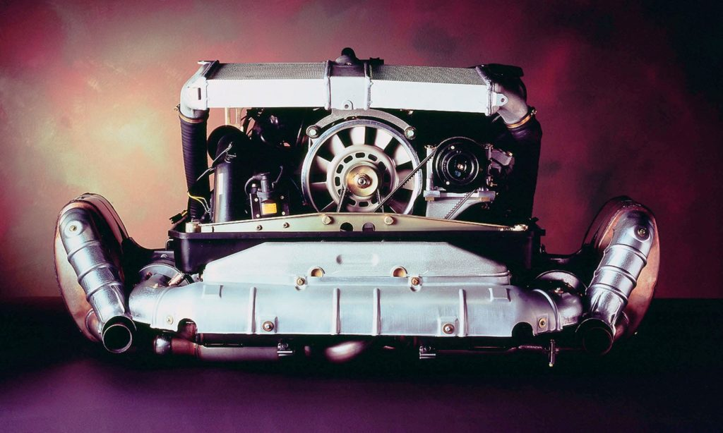 Turbocharged flat-six motor