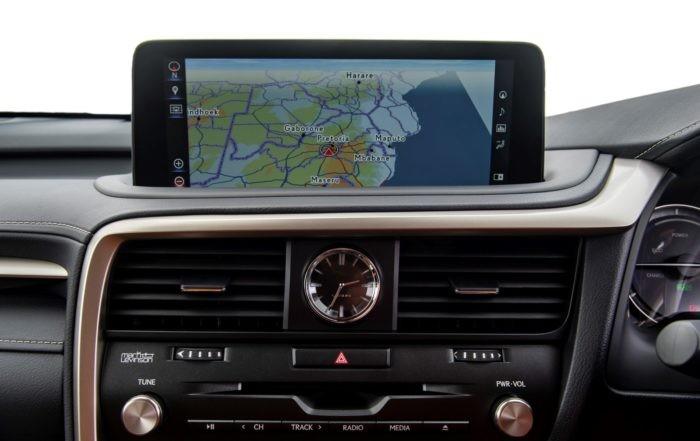 Updated Lexus RX range infotainment