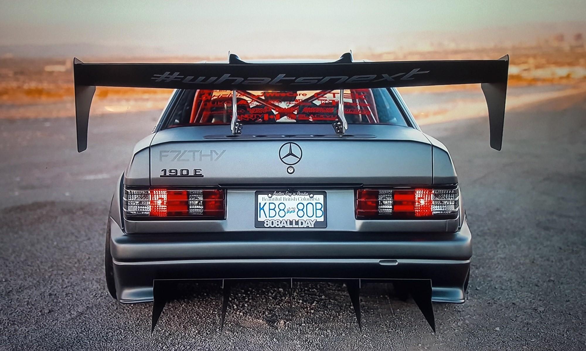 V8TT Mercedes 190E Evo wing