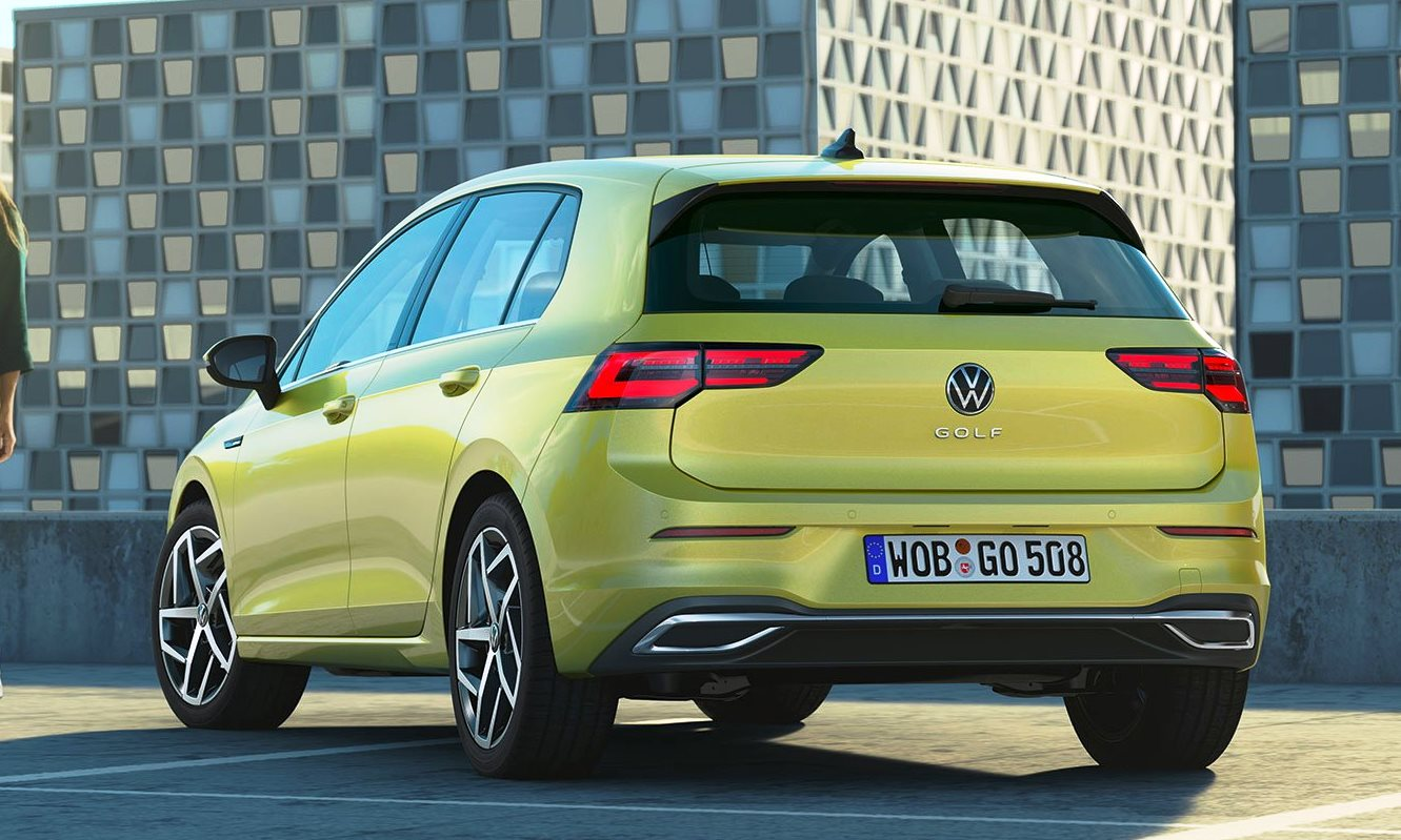 VW Golf 8 unveiled rear