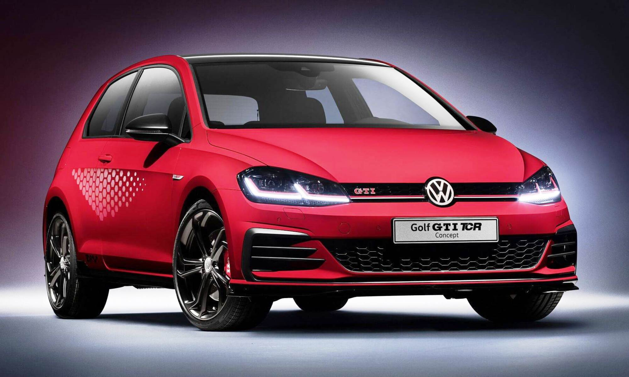 vw unveils hot new golf gti tcr at worthersee show in austria. Black Bedroom Furniture Sets. Home Design Ideas