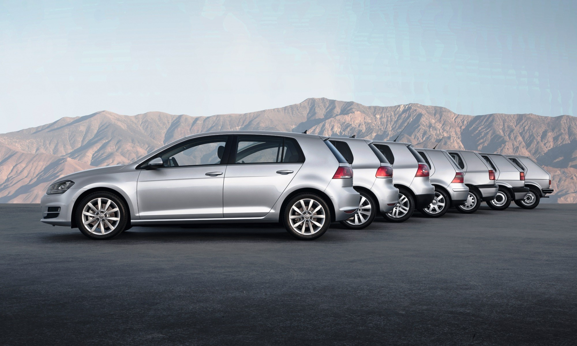 VW Golf generations