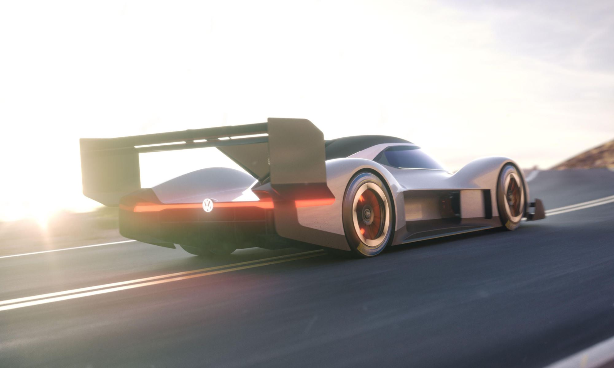 VW ID R Pikes Peak racer rear