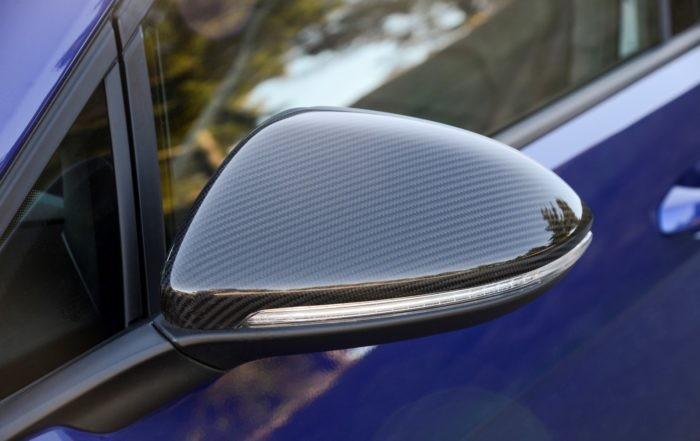 VW Golf R mirror detail