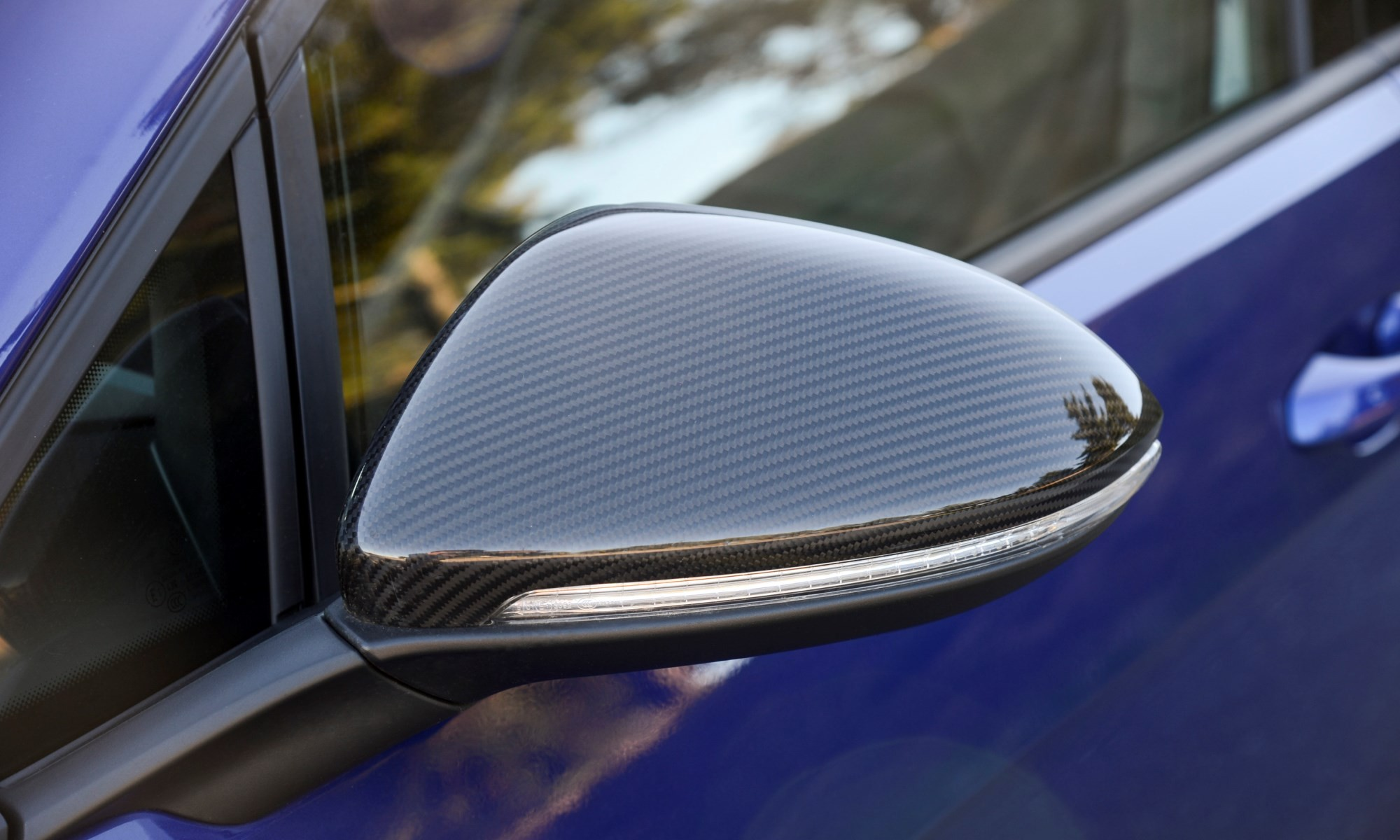 VW Golf R mirror detail