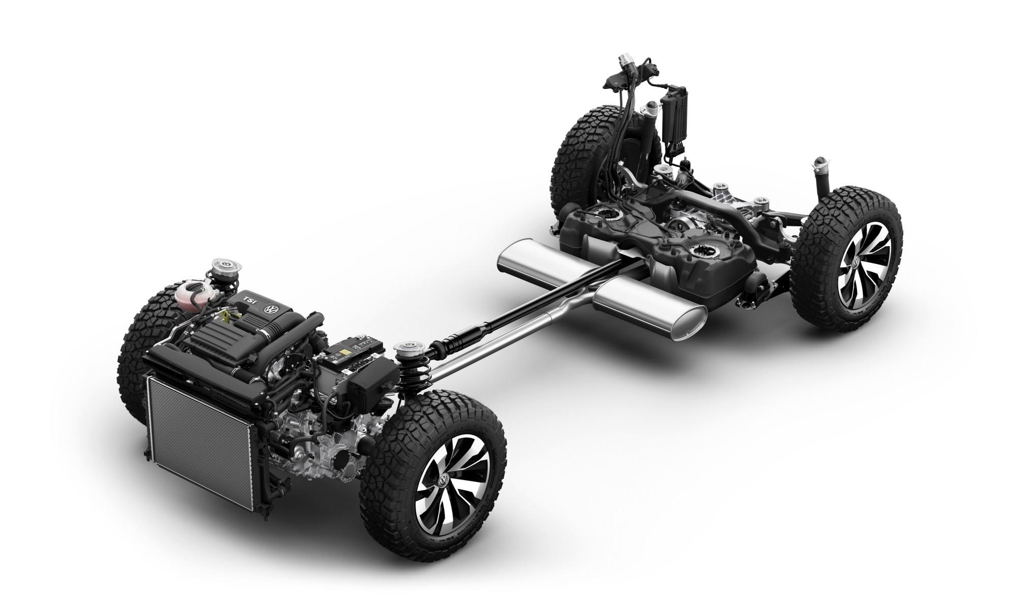 Volkswagen Tarok Concept powertrain