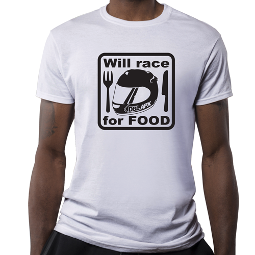 Double Apex Will Race for Food car T-shirt
