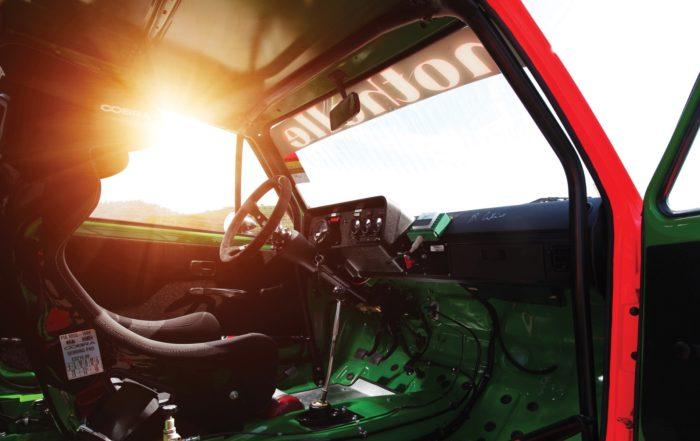 World's First Golf Racecar interior