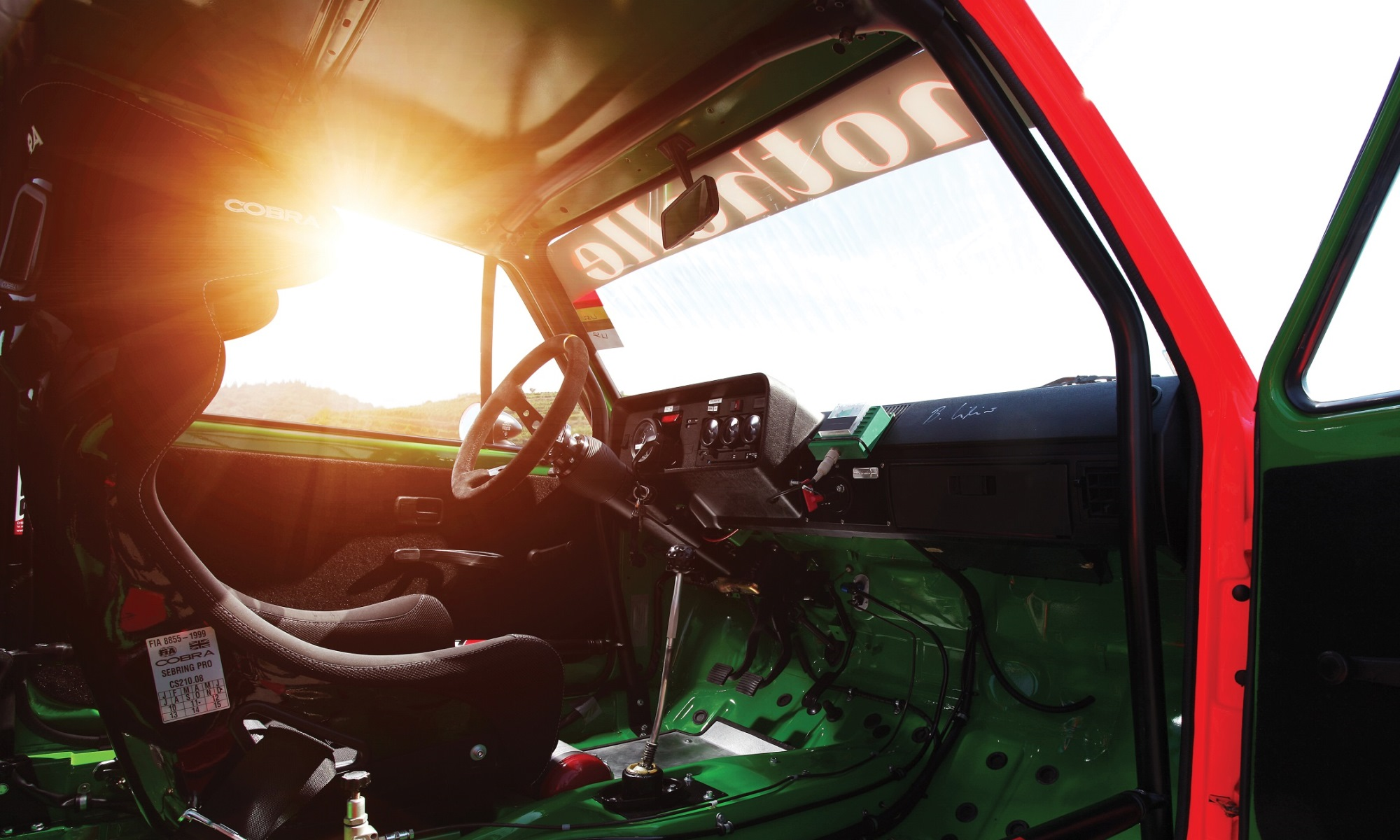 World's First Golf Racecar interior