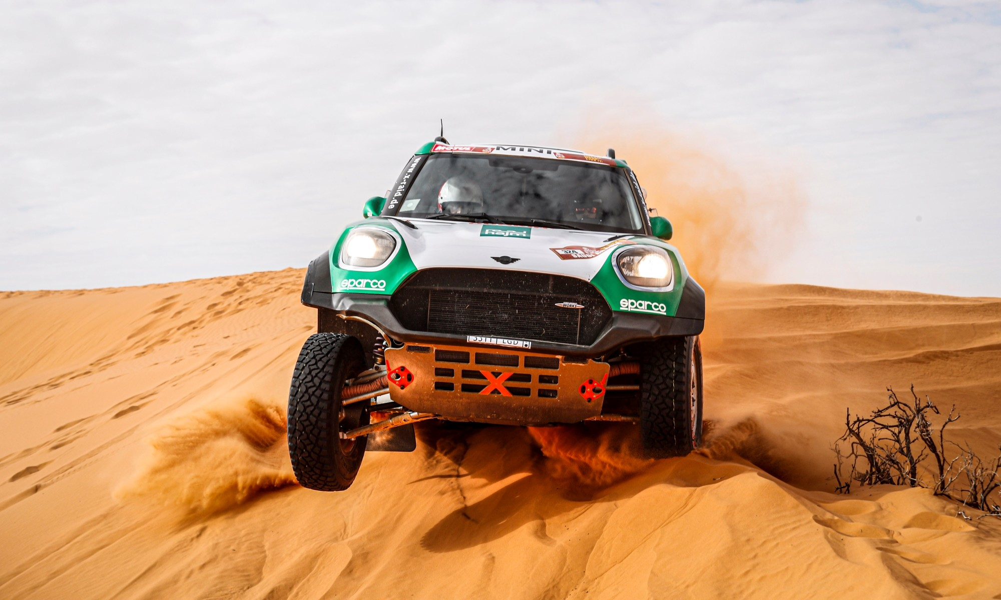 Yasir Seaidan in action during the 2020 Dakar (Photo DPPI)