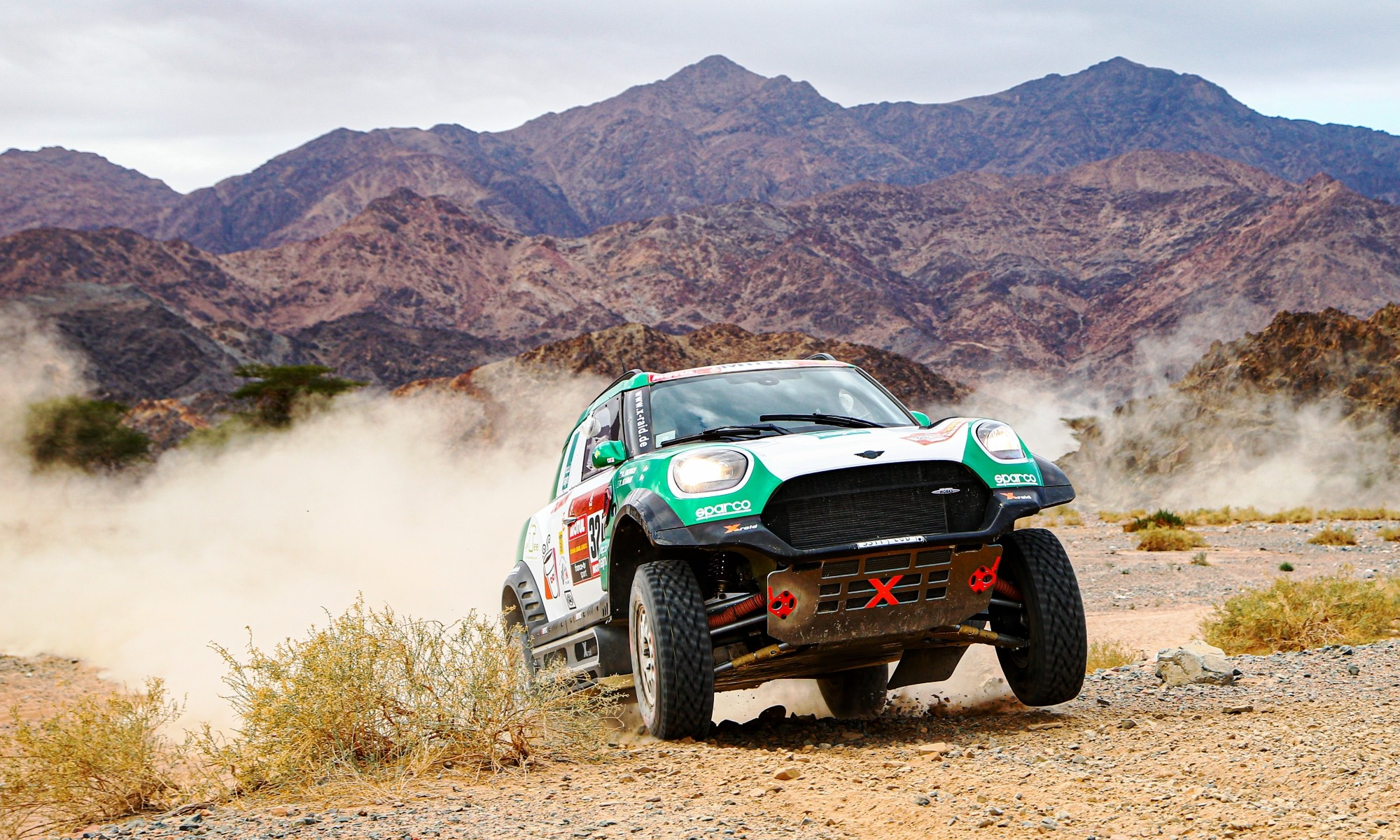Yasir Seaidan in action on 2020 Dakar Stage 9 (Photo A.S.O DPPI J.Delfosse)