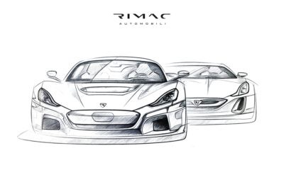 Rimac C_Two and its predecessor behind